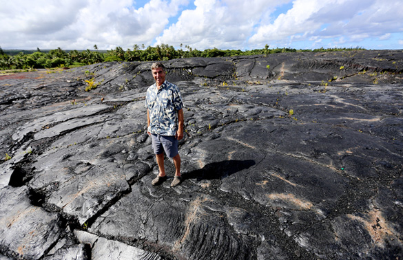 Gary Hoffeld stands at the site of the Hawaii Star Visitor Sancuary. (Credit: Hawaii Tribune Herald)