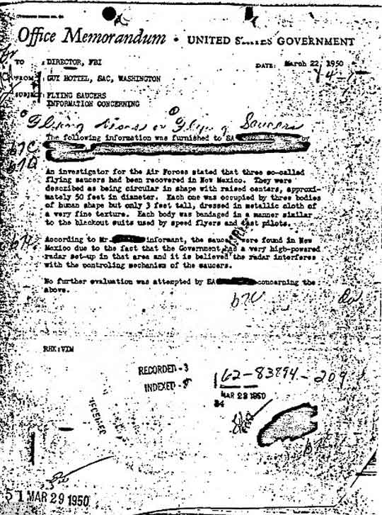 UFO file is most popular in FBI's Vault
