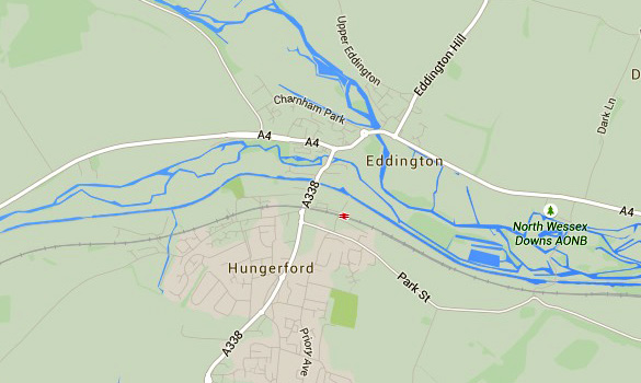 Map showing the Charnham Park area in Hungerford. (Credit: Google Maps)