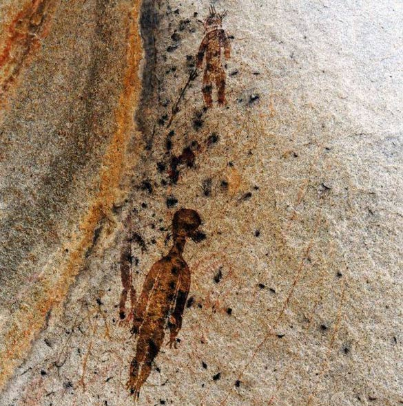 Ancient Indian rock paintings from the state of Chhattisgarh. (Credit: Amit Bhardwaj.The Times of India)