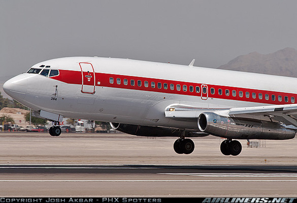 Janet flight from Area 51 landing at McCarren International Airport in Las Vegas, Nevada. (Credit: Josh Akbar/Airliners.net)