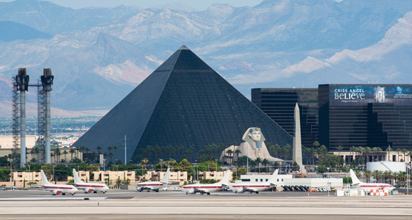 Unmarked airplanes at McCarran International Airport in Las Vegas used to shuttle employees to Area 51. (Credit: Alejandro Rojas)