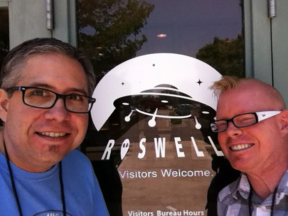 Jason and Alejandro at Roswell
