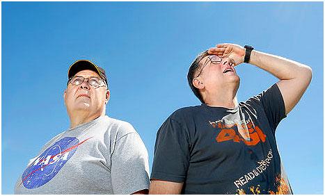 Chuck Foltz and Jim Weiner (credit: Tim Greenway / Press Herald)