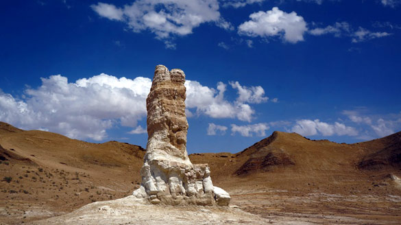 Rock formation on the Karagiye depression. (Credit: http://kazakhstan.travel)