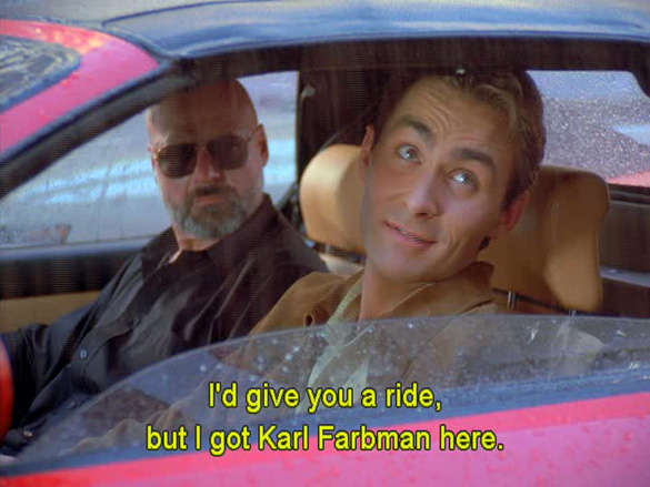 A scene from the Seinfeld episode.