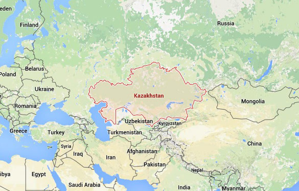 Kazakhstan (Credit: Google Maps)