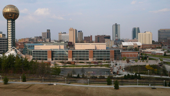 The witness watched the object move in a controlled manner near her home. Pictured: Knoxville, Tennessee, skyline. (Credit: Wikimedia Commons)
