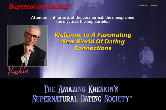 Kreskin's dating website.
