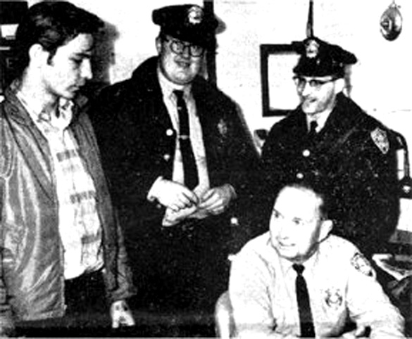 (L to R) Muscarello, David Hunt, Eugene Bertrand, and dispatcher Scratch Toland