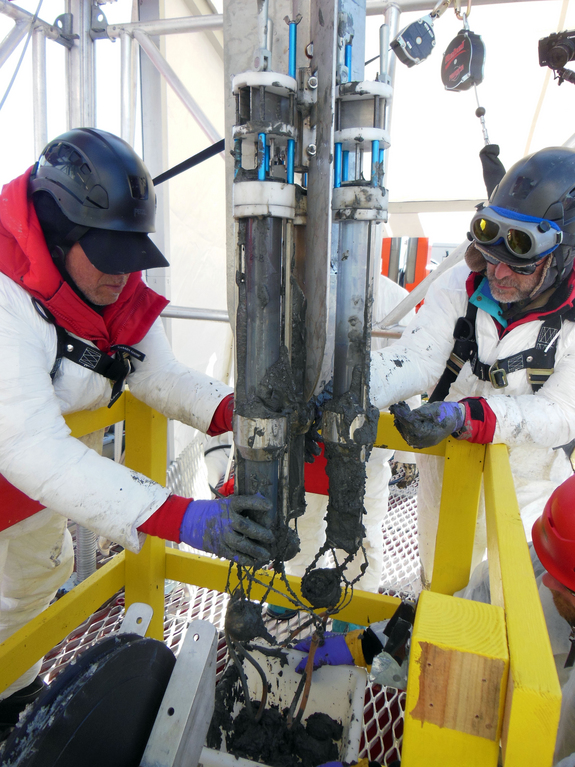 Drilling at Lake Whillans. (Credit: Reed Scherer, Northern Illinois University)