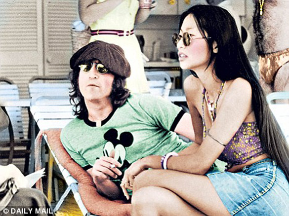 John Lennon and May Pang. (Credit: Daily Mail)