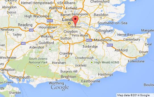 Map showing location of Lewisham.