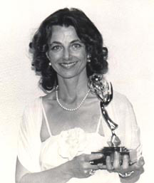 Linda Maouton Howe on the evenning of receiving her regional Emmy award for Strange Harvest.