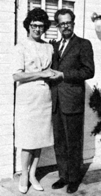 Coral and Jim Lorenzen in a photo from an APRO brochure in the late 1960s. (image credit: APRO)