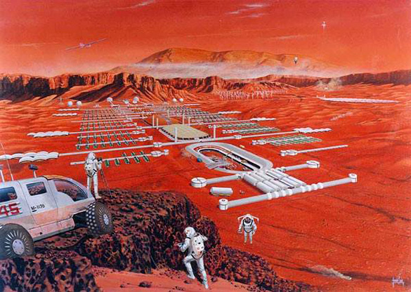 Image of Martian Colony used to promote the Extraterrestrial Liberty events. (Credit: British Interplanetary Society)