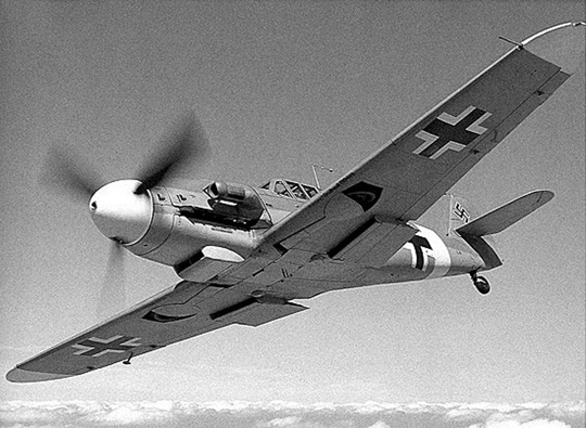 Berman Balkenkruez cross on a Me-109