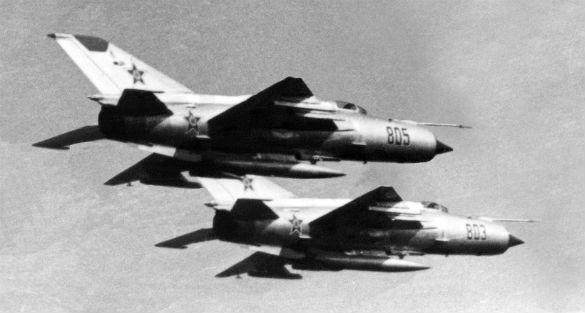 Soviet MiG-21s (Credit: U.S. Department of Defense)