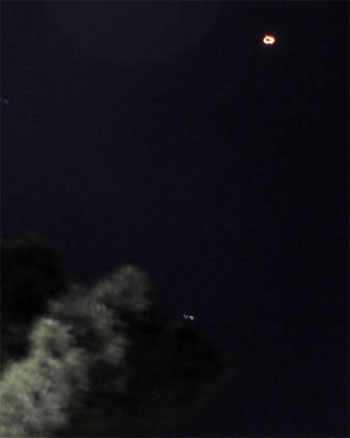 UFO over Montenegro. (Credit: Vijesti/Zoran Djuric)