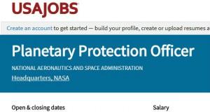 NASA Planet Protection ftr