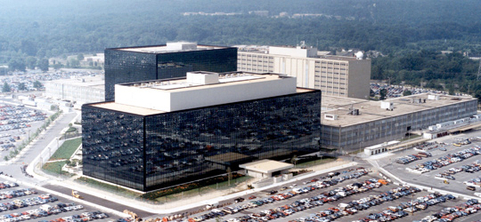 National Security Agency headquarters, Fort Meade, Maryland, (image credit: NSA)
