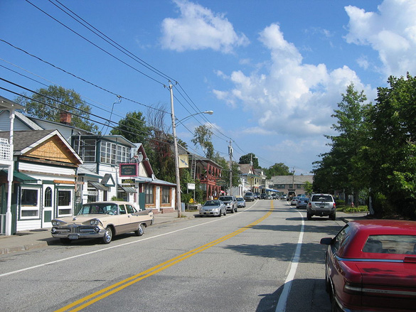 Main Street in North Creek. (Credit: Wikimedia Commons)