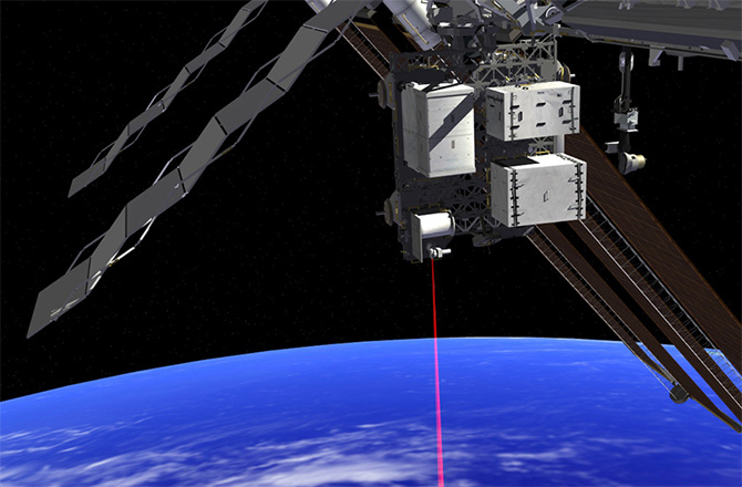 Artist's impression of OPALS operating from the ISS. (Credit: NASA/JPL-CALTECH)