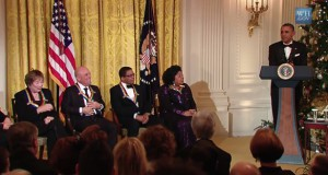 Obama-MacLaine-Kennedy-Center