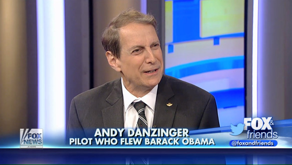 Pilot Andy Danziger discusses his UFO encounter with Clayton Morris on Fox News' Fox and Friends. (Credit: Fox News)
