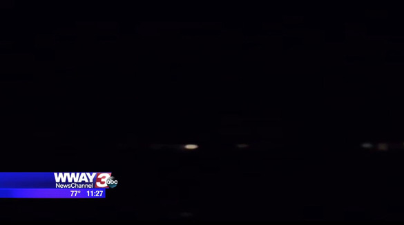 One of the images of the UFO provided by the witness. (Credit: Woozy Dell/WWAY)