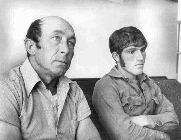 Charlie Hickson (left) and Calvin Parker two weeks after the abduction, in late October 1973.