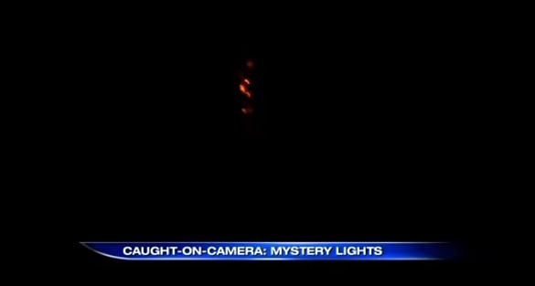 Picture of the UFO caught on video in Lower Paxton Township, Pennsylvania. (Credit: Stephanie Wilkerson/ABC 27)