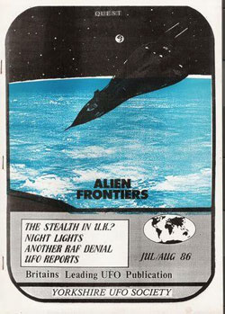 Quest Magazine in 1986. The original hand made publication that detailed the UFO landing at Normanton.