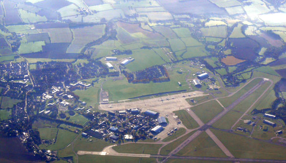 Aerial view of RAF Lyneham. (Credit: Ad Meskens / Wikimedia Commons)