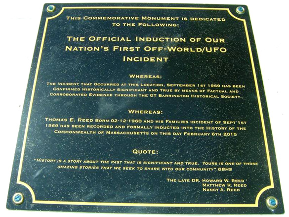 Monument Plaque (Credit: Thom Reed/Facebook)