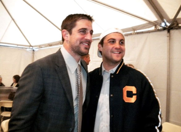 Aaron Rodgers (left) with friend Steve Levy. (Credit: Steve Levy/NJ.com)