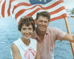 Ronald and Nancy Reagan in California in 1964