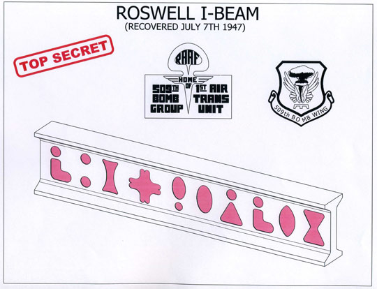 Roswell I-Beam illustration by Michael Schratt.