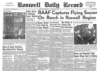 Roswell Daily Record - July 8th, 1947