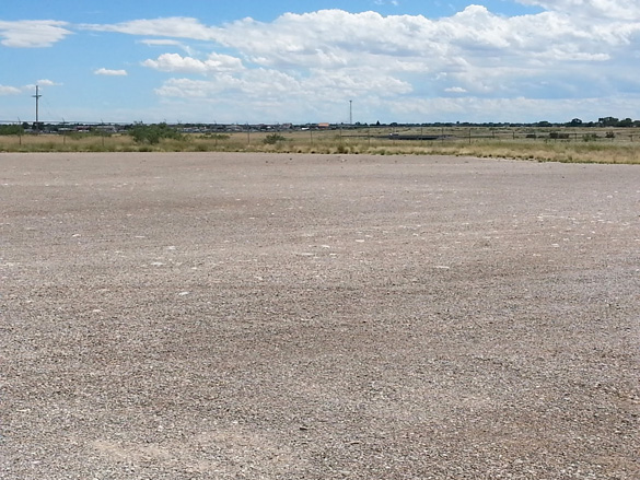 Open lot where the studios will be located. (Credit: Roswell Movie Studios)