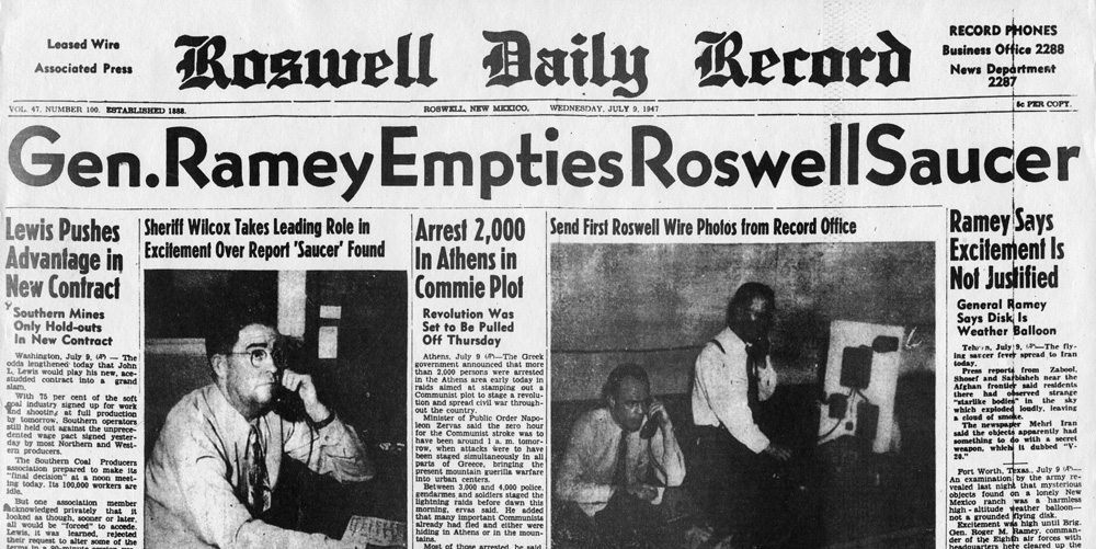 1947 roswell incident Were several prominent politicians born nine months after the 1947 roswell ufo incident.