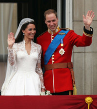 Newlyweds, William and Kate