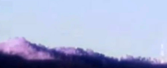 The same ridgeline  as the above night vision video from the daytime images provided by Tom Sanger. (Credit: Tom Sanger)