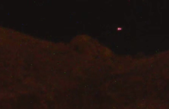 Still image from the color night vision UFO video. (Credit: Thomas Sager)