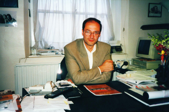 Ray Santilli in his office in London (image credit: Philip Mantle)