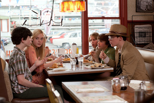 The crew haning out at teh diner. (image credit: Amblin Entertainment, Bad Robot Productions, and Paramount Pictures)