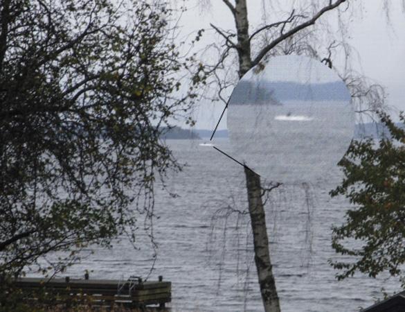 USO spotted in Jungfrufjärden, Sweden on Sunday. (Credit: TT)