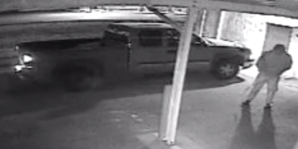 Third thief near the truck used to spirit away the UFO. (Credit: Roswell Police Department)