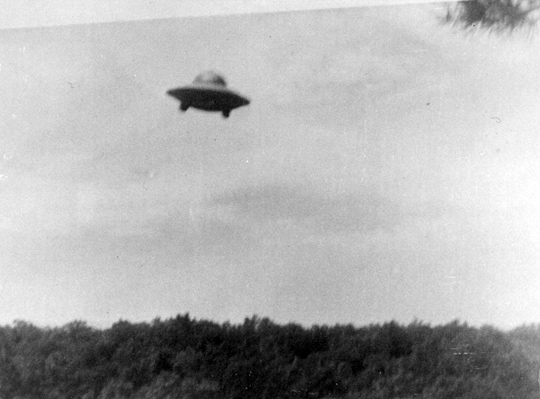 First UFO photo taken by Harold Trudel in Woonsocket, Rhode Island, June 16th, 1967. (image credit: Harold Trudel, August C. Roberts)