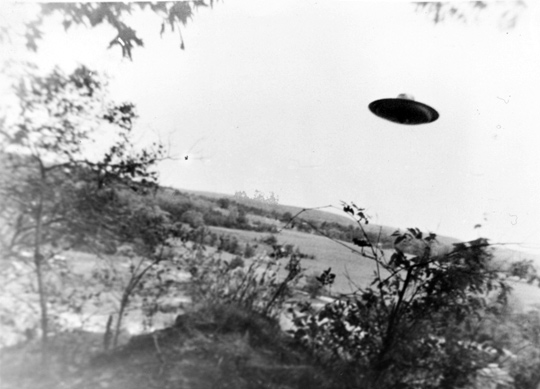Third UFO photo taken by Harold Trudel in Woonsocket, Rhode Island, June 10th, 1967. (image credit: Harold Trudel, August C. Roberts)